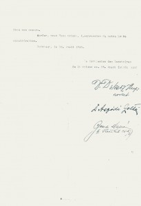 1945, 18 aprile lettera abitanti szent istvan park retro