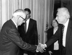 30 giugno 1990, con il Presidente Cossiga