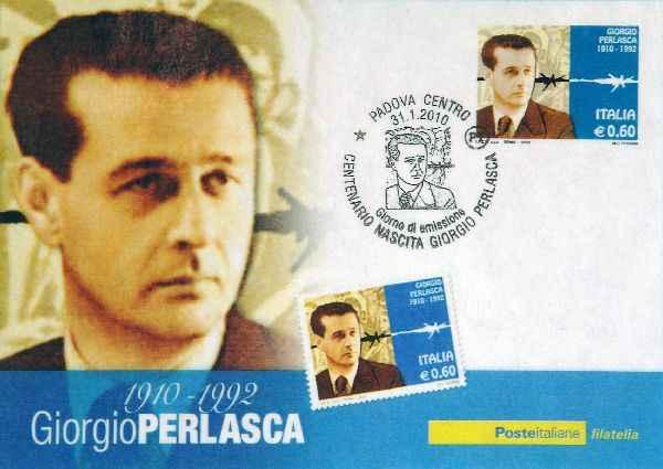 Francobollo commemorativo su nascita di Giorgio Perlasca