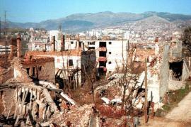 zona della città distrutta dai bombardamenti