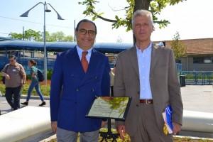 il rabbino capo di Bologna Alberto Sermoneta e Franco Perlasca