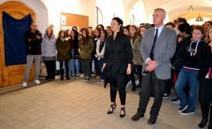 Bolzano, inaugurazione Aula Magna a Giorgio Perlasca scuola Dante Alighieri (8)